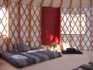 Metta Earth Institute Accommodations: Yurt Interior