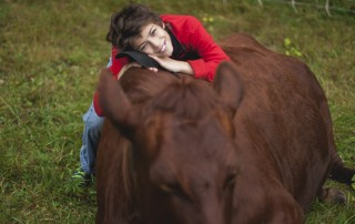 kid and cow
